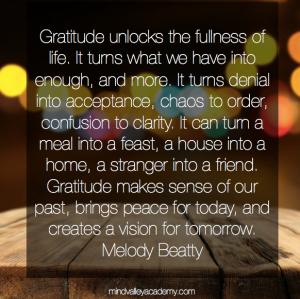 Gratitude unlocks